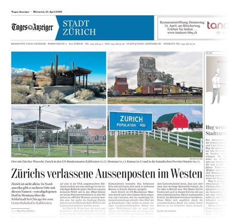 Tagesanzeiger, Bilderklau vom 15.04.2009